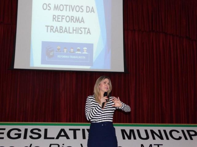 Palestra da Reforma Trabalhista - CDL - Câmara de Dirigentes Lojistas de Lucas do Rio Verde